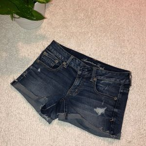 American Eagle Washed Jean Shorts